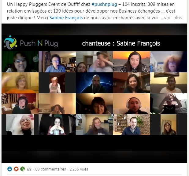 Happy Plugger event avec Sabine François