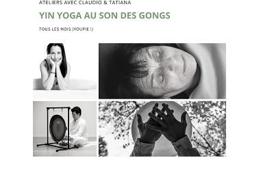PUSH : AVRIL 18 à 19h, Séance de Yin yoga sonore -relaxez-vous dans les postures très cool du Yin au son des instruments comme le Gong, les bols chantants