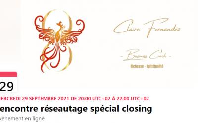 PUSH : Rencontre réseautage spécial closing – Ce 29 septembre 20h
